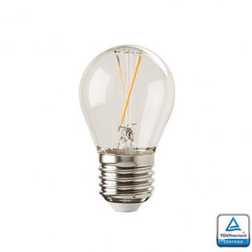 E27 LED Lamp Filament Velino 1,5 Watt 2700K TUV Gecertificeerd