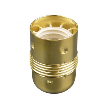 Decoratieve E27 fitting messing