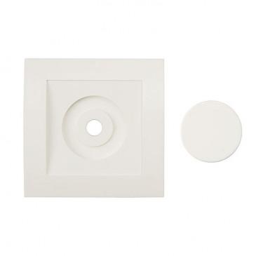 Afdekraam voor alleenstaande Dimmer Tradim 2480 en 2490HP kleur wit
