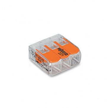 Wago Connector compact 3 aansluitingen set van 5 stuks