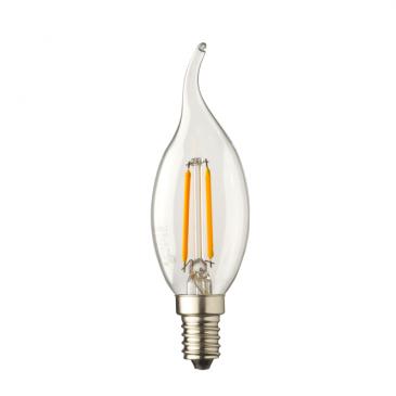E14 LED kaars lamp vlam Lybardo 0,5 Watt 2100K TUV
