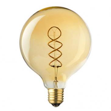 e27 led lamp globe spiraal lybardo 4-stap dimbaar filament, 4 watt