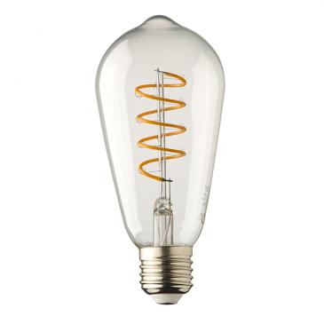 E27 LED lamp  Filament Spiraal Lybardo Edison 4 Watt 2100K TÜV