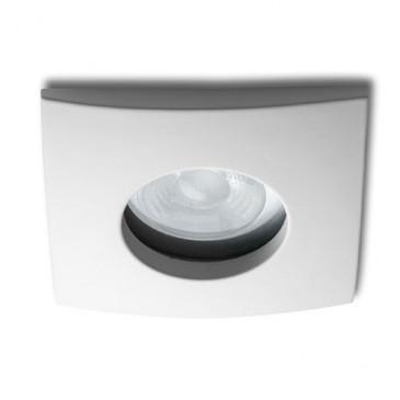 Inbouw armatuur badkamer IP65 vierkant wit