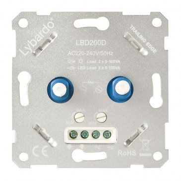 LED Duo-Dimmer Lybardo-ITEC 2 x 5 - 100 Watt