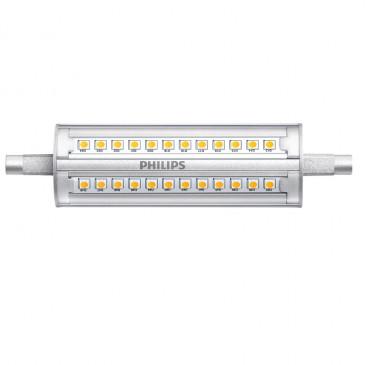 LED Philips staaflamp R7S 118 mm 14 Watt 3000K Dimbaar