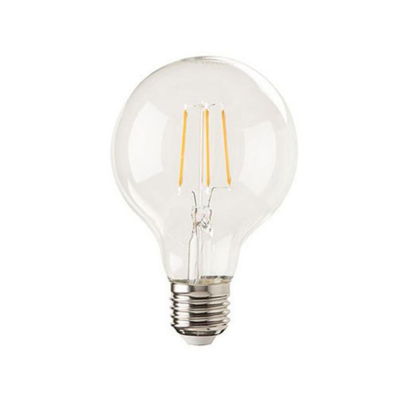 E27 Led Lamp Lybardo Filament Globe diameter 80mm, 4 Watt 2100K TUV ...