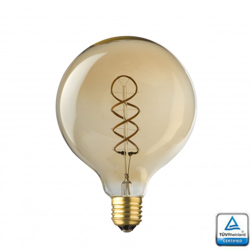 E27 LED Filament Spiraal Globe 95 Lybardo 4 Watt Rustique finish ...