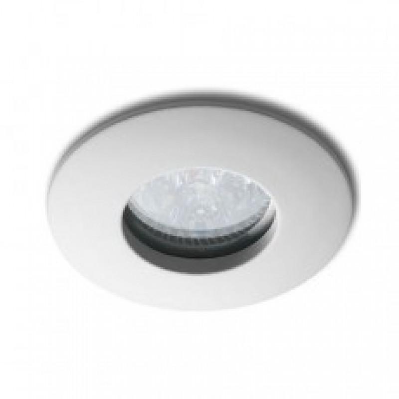 Inbouw armatuur badkamer IP65 rond mat wit