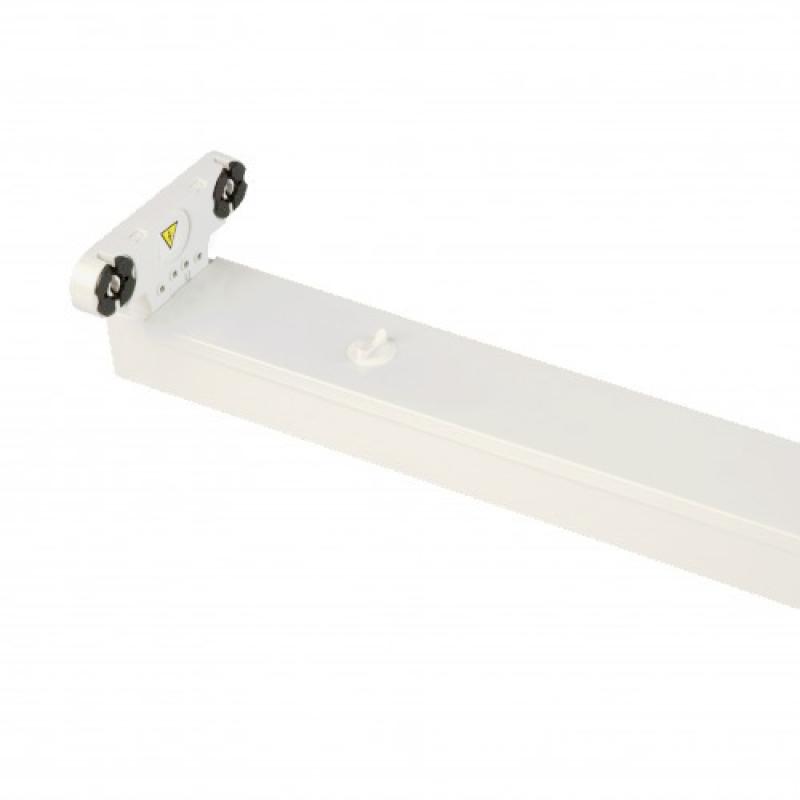 LED TL Armatuur IP20 Dubbel 120 cm wit, opbouw - LEDlampenkopen.nu