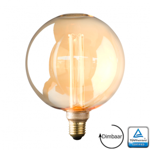 E27 LED Kooldraad lamp Florence Gold 3.5 Watt 1800K Dimbaar