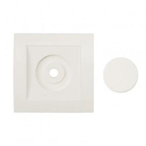 Afdekraam voor alleenstaande Dimmer Tradim 2480 en 2490H kleur wit