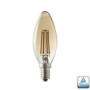 E14 LED Kaarslamp Filament Lybardo Rustique Dimbaar 4 Watt 2500K TUV