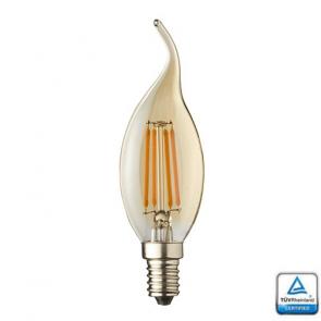 E14 LED Kaars lamp vlam  Filament Lybardo Rustique Dimbaar 4 Watt 2500K TÜV