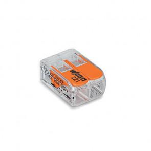 Wago Connector compact 2 aansluitingen set van 5 stuks