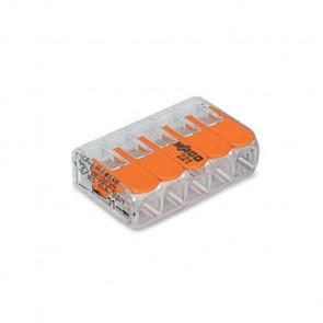 Wago Connector compact 5 aansluitingen set van 5 stuks