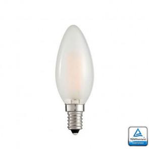 E14 LED Kaars lamp Filament Lybardo Frost Dimbaar 4 Watt 2100K TÜV