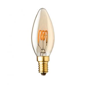 E14 LED kaars lamp spiraal Lybardo Gold 1.2 Watt 2000K 50 lumen TÜV