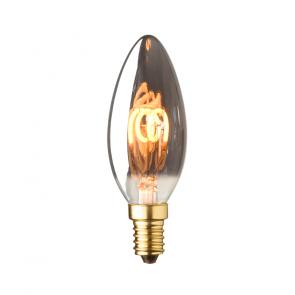 E14 LED kaars lamp spiraal Lybardo Smoke 2,5 Watt 2000K 40 lumen TÜV