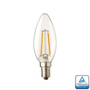 E14 LED kaars lamp Lybardo 0,5 Watt 2100K TUV