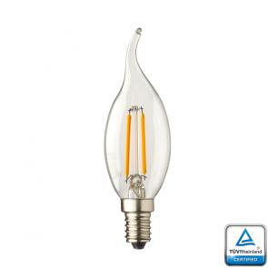 E14 LED kaars lamp vlam Lybardo 0.6 Watt 2100K TÜV