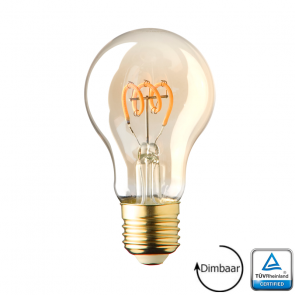 E27 LED lamp spiraal Lybardo Gold 2.8 Watt 2000K Dimbaar TÜV