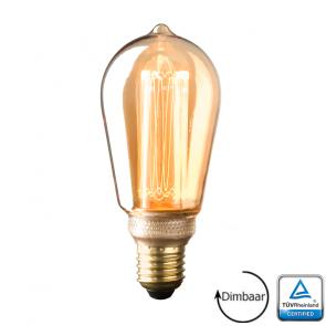E27 Led Kooldraad lamp Napoli Gold 3.5 Watt 1800K Dimbaar