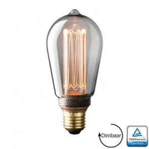 E27 LED Kooldraad lamp Napoli Smoke 3.5 Watt 2000K Dimbaar