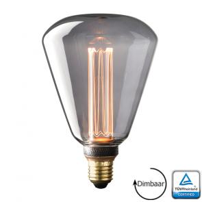E27 LED Kooldraad lamp Salerno Smoke 3.5 Watt 2000K Dimbaar
