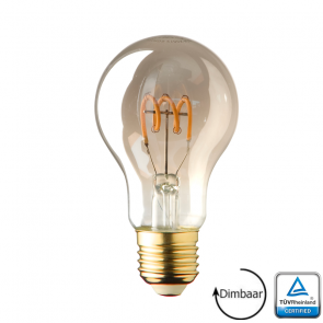 E27 LED lamp spiraal Lybardo Smoke 4 Watt 2100K Dimbaar TÜV