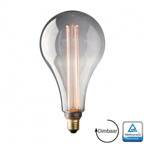 E27 LED Kooldraad lamp Toscane Smoke 3.5 Watt 2000K Dimbaar