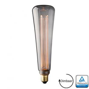 E27 LED Kooldraad lamp Verona Smoke 3.5 Watt 2000K Dimbaar