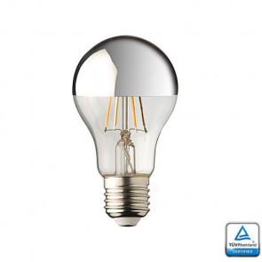 E27 LED lamp Filament Lybardo Kopspiegel Zilver 4 Watt 2700K TÜV