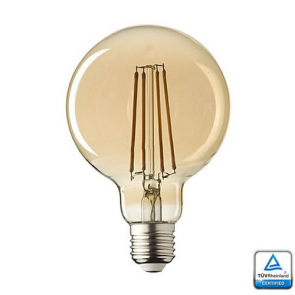 E27 LED lamp Filament Lybardo Rustique Globe 125 mm 2.3 Watt 2100K TÜV