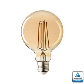 E27 LED Sensor lamp Filament Globe 95 Lybardo 4 Watt 2500K Rustique Finish TÜV