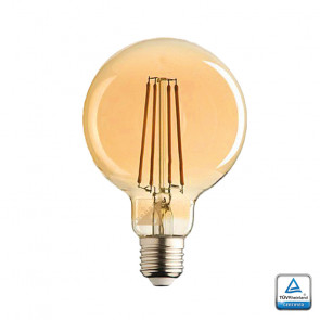 E27 LED Sensor lamp Filament Globe 95 Lybardo 4,2 Watt 2500K Rustique Finish TÜV