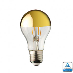 E27 LED lamp Filament Lybardo Kopspiegel Goud 4 Watt 2700K TÜV
