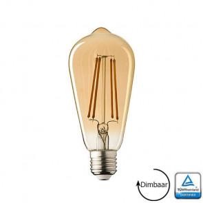 E27 LED lamp Filament Lybardo Rustique Edison Dimbaar 3.6 Watt 2100K TÜV