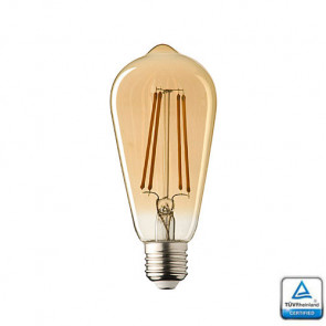 E27 LED Sensor Lamp Filament Edison Lybardo 4 Watt 2700K Rustique finish TÜV