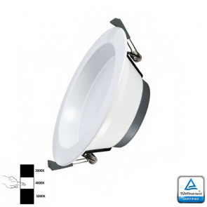 LED Downlight Prof 14 Watt 3- instelbare lichtkleuren TÜV