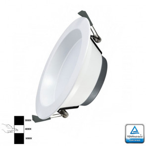 LED Downlight Prof 20 Watt 3- instelbare lichtkleuren TÜV