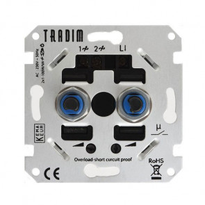 LED Tronic Duo-Dimmer Tradim, 2 x 1-100 Watt