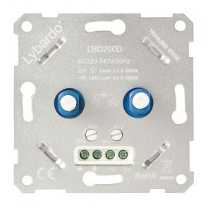 LED Duo-Dimmer Lybardo-ITEC 2 x 5 - 100 Watt