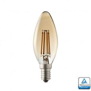 E14 LED Kaars lamp Filament Lybardo Rustique Dimbaar 3.5 Watt 2100K TÜV