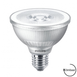 LED Par 30 lamp, Philips 9.5 Watt 2700K Dimbaar
