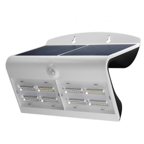 LED Solar Sensor Buitenlamp wit IP65, 6.8 Watt 800 Lumen