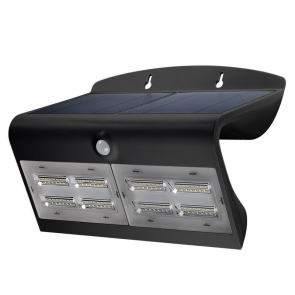 LED Solar Sensor Buitenlamp zwart IP65, 6.8 Watt 800 Lumen