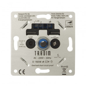 LED Tronic Dimmer Tradim 5-150 Watt KEMA KEUR