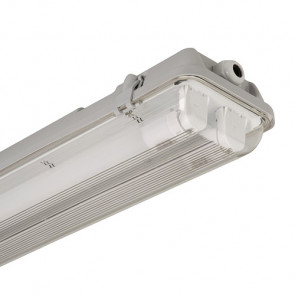 LED Armatuur Waterdicht IP65 120 cm dubbel, opbouw.