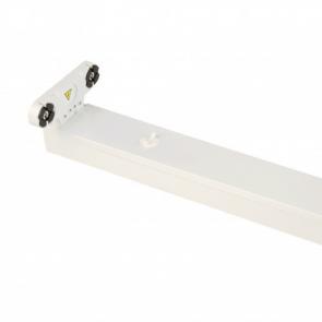LED TL Armatuur IP20 dubbel 150 cm wit, opbouw